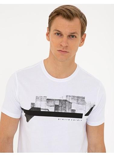 Pierre Cardin G021Sz011.000.1308749.Vr013 T-Shirt Beyaz